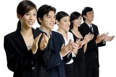 企业小组掌声 免版税库存照片