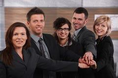 企业小组纵向  图库摄影