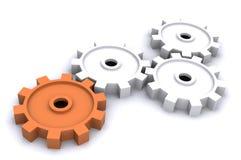 企业嵌齿轮 库存例证