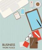企业工作区顶视图  免版税图库摄影