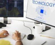 企业工作场所技术设计观念 库存照片