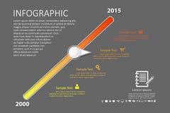 企业工作流的Infographic模板 免版税库存照片
