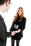 企业工作者兑换业务卡片 库存图片