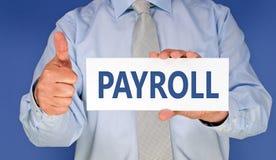 企业工资单 免版税图库摄影