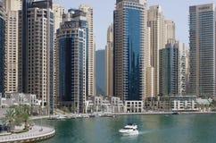 企业市中心的摩天大楼的全景,被找出 免版税库存图片
