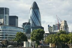 企业市区伦敦地平线 库存图片