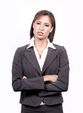 企业常设妇女 免版税库存图片