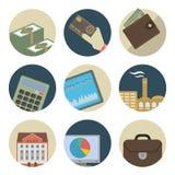 企业平的象 免版税库存图片