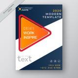 企业年终报告小册子飞行物设计模板传染媒介,现代出版物海报杂志,在A4大小,储蓄传染媒介的布局 向量例证