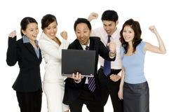 企业庆祝 免版税图库摄影