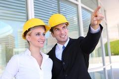 企业建筑小组 免版税库存照片