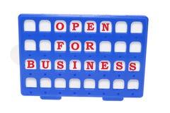 企业开放符号 免版税库存图片