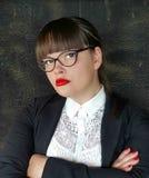 企业强大的妇女 免版税库存照片