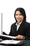 企业微笑妇女 免版税库存照片