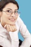 企业微笑的妇女 库存照片