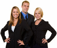 企业微笑的小组 免版税图库摄影