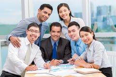 企业微笑的小组 免版税库存图片