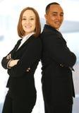 企业微笑的成功的小组 免版税图库摄影