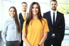 企业微笑的成功的小组 免版税库存照片