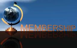 企业徽标会员 免版税库存照片