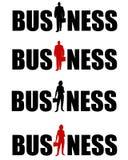 企业徽标供以人员妇女 皇族释放例证