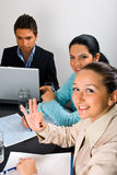 企业快乐的会议好的显示的妇女 免版税库存图片
