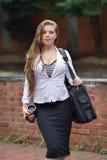企业性感的妇女年轻人 免版税库存照片