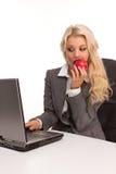 企业性感的妇女 免版税库存照片