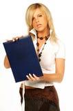 企业性感的妇女 免版税图库摄影