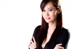 企业性感的微笑妇女 免版税图库摄影