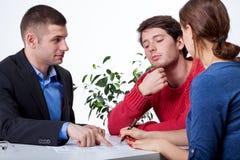 企业情况通知的会议 库存图片