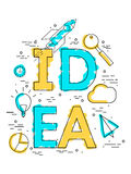 企业想法的Infographic模板 库存照片