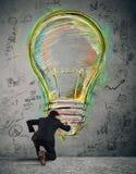 绘企业想法 免版税图库摄影