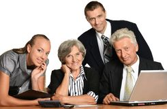 企业愉快的人员 免版税图库摄影