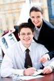 企业愉快的合作伙伴 库存照片