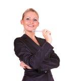 企业愉快的妇女年轻人 库存照片