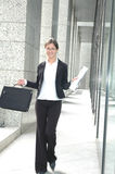 企业愉快的妇女 免版税库存照片