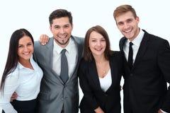 企业愉快的小组 背景查出的白色 免版税库存图片