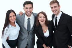 企业愉快的小组 背景查出的白色 图库摄影