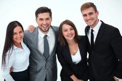 企业愉快的小组 背景查出的白色 免版税图库摄影