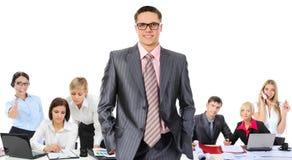 企业愉快的微笑的小组 免版税库存图片
