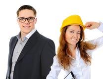 企业愉快的微笑的小组 库存图片