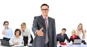 企业愉快的微笑的小组 免版税图库摄影