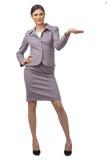 企业愉快的成功的妇女 免版税库存图片