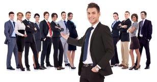 企业愉快的成功的小组 免版税库存照片