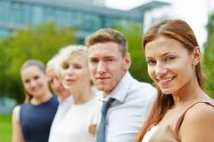 企业愉快的纵向小组 免版税库存图片