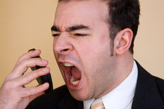 企业愤怒的人 免版税库存图片