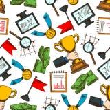 企业成功和领导无缝的样式 向量例证