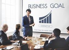 企业成功报告图表概念 免版税库存照片