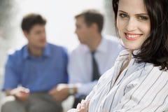 企业成功的妇女 库存照片